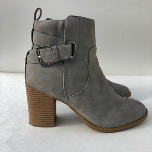 Charlotte Russ suede ankle booties